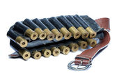 Bandolier ammunition belt — Stock Photo