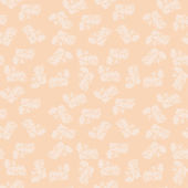 Seamless Background in Vintage Style with flowers apricot — Stock Vector