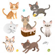 Set of  cat characters — Stock Vector #50928061