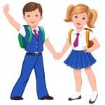 Boy and girl — Stock Vector #50929613