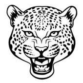 Aggressive leopard head — Stock Vector