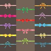 Cute ribbon elements — ストックベクタ