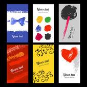 Hand drawn card templates — Stock Vector