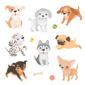 Set of dog characters — Stock Vector