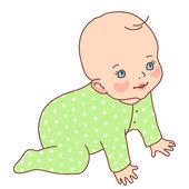 Sweet baby character — Stock Vector