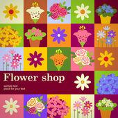 Flower shop  illustration — Stock Vector