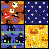 Cadılar bayramı desenleri — Stok Vektör