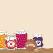 Homemade jams — Stock Vector