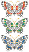 Jewelry butterflies — Stock Vector