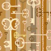 Gold keys pattern — 图库矢量图片