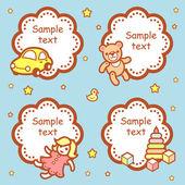 Baby showers design — Stock Vector