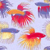 Betta fishes pattern — Stock Vector