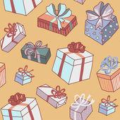 День рождения подарки шаблон — Cтоковый вектор