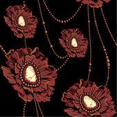 Jewel flowers — Stock Vector