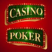 Casino banner — Stok Vektör