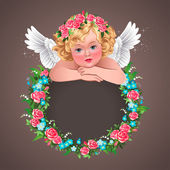 Cherub and wreath — Vetorial Stock