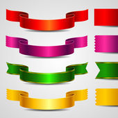 Set of color ribbons — Stock Vector
