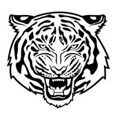 Tiger anger — Stock Vector