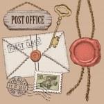 Post office set. — Stock Vector