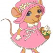 Mouse in dress — Stock Vector #51709351