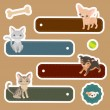 Labels with domestic animals — Stock Vector #51709597