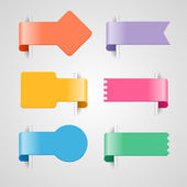 Set of  infographics option banners — Stock Vector
