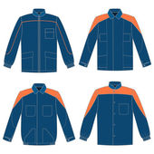 Jackets set — Stock Vector