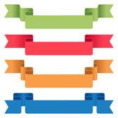 Conjunto de cintas de color — Vector de stock