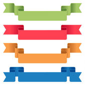 Ensemble de rubans de couleur — Vecteur