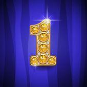 Jewelry number 1 — Stock Vector