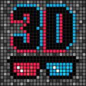 3d cinema — Stock Vector