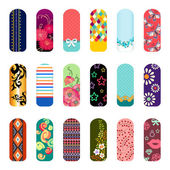 Fashion nail art — Vector de stock