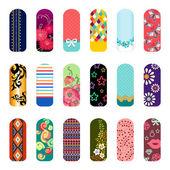 Fashion nail art — Stockvektor