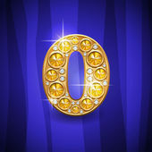 Jewelry number 0 — Stock Vector