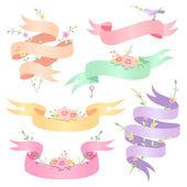 Romantic ribbons — Stockvector