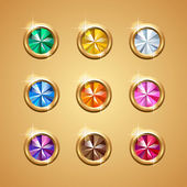Set of glamour color gems — 图库矢量图片