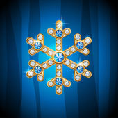 Jewelry snowflake — Stock Vector
