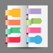 Ensemble de balises de couleur — Vecteur