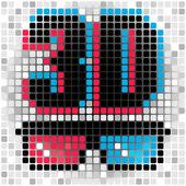 3d symbol — Stock Vector