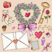 Valentinstag-satz — Stockvektor