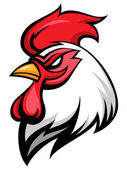 Angry rooster — Stock Vector
