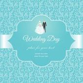 Invitación de la boda — Vector de stock