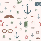 Hipster pattern — Stock Vector