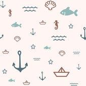 Vzor moře — Stock vektor