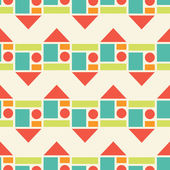 Padrão sem emenda colorido de formas geométricas. — Vetorial Stock