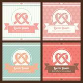 ビンテージ スタイルのロマンチックなカード。結婚式またはバレンタインの日. — ストックベクタ