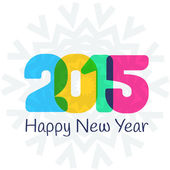 Happy New Year 2015 colorful greeting card — ストックベクタ