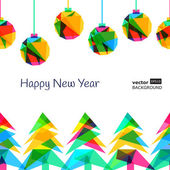 Vector seamless background, New Year 2015 — Vector de stock