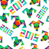 Vector seamless pattern, New Year 2015 — Vector de stock