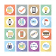Modern flat web design icons, Set 2 - Colorful elements with long shadow — Stock Vector #51023891